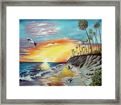 Dune Sunset Reflections Framed Print by Riley Geddings
