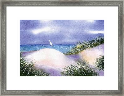 Dune View Framed Print by Joseph Gallant