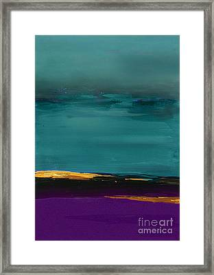 Dunes - Abstract Landscape Framed Print by VIAINA Visual Artist