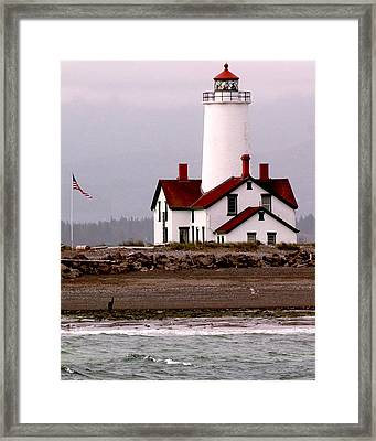 Dungeness Lighthouse Framed Print by Alvin Kroon