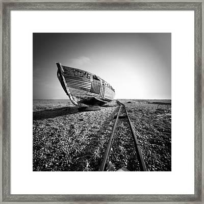 Dungeness Ship Wreck II Framed Print by Nina Papiorek