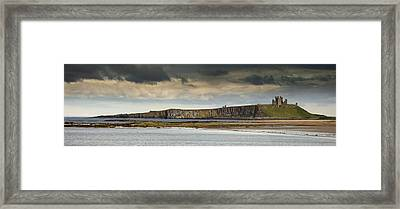 Dunstanburgh Castle On A Hill Under A Framed Print by John Short