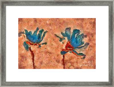 Duo Daisies - 02blt3dp1c Framed Print by Variance Collections