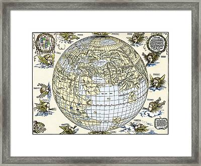 Durer's World Map, 1515 Framed Print by Sheila Terry