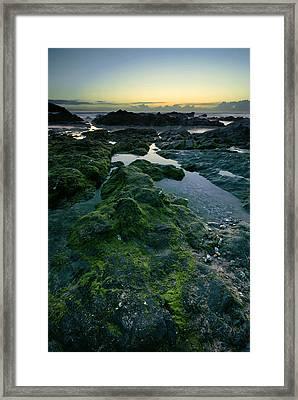 Dusk By The Ocean Framed Print by Jaroslaw Grudzinski