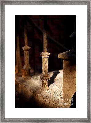Dusk Rail Framed Print by Maglioli Studios