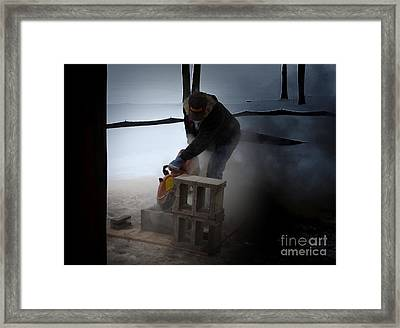 Dust In The Wind Framed Print by The Stone Age