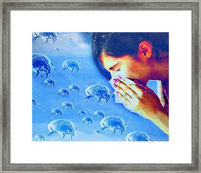 Dust Mite Allergy, Conceptual Artwork Framed Print by Hannah Gal