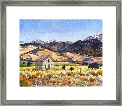 Dust To Dust Sand Dunes Framed Print by Anne Gifford