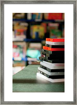 Dvd In Library Framed Print by Jill Ferry