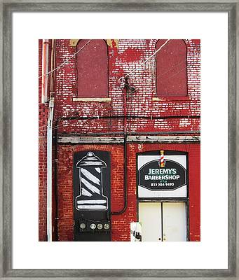 Dwight Barber Shop Framed Print by Todd Sherlock