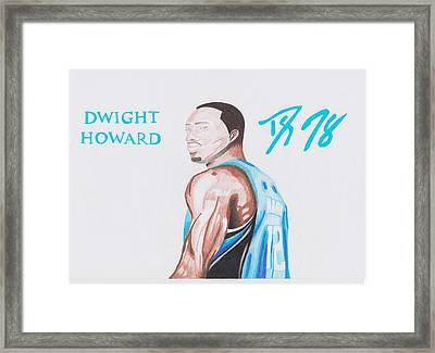 Dwight Howard Framed Print by Toni Jaso