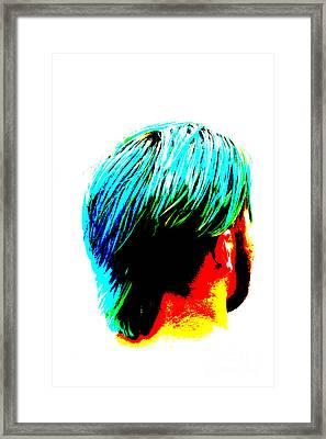 Dyed Hair Man Framed Print by Susan Stevenson