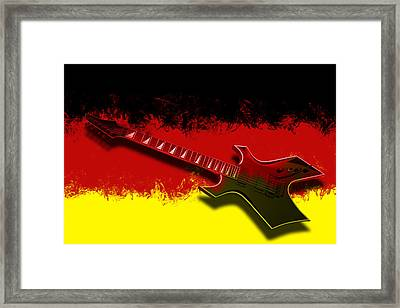 E-guitar - German Rock II Framed Print by Melanie Viola
