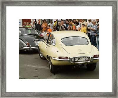 E Type Jaguar Framed Print by Odon Czintos