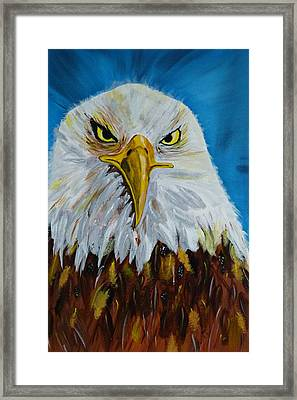 Eagle Framed Print by Ismeta Gruenwald