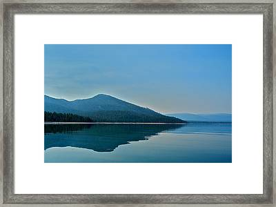 Eagle Lake Blues Framed Print by Kirsten Giving