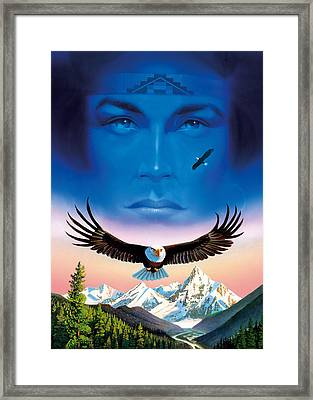 Eagle Mountain Framed Print by MGL Studio - Chris Hiett