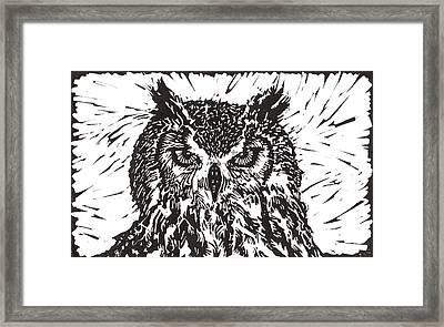Eagle Owl Framed Print by Julia Forsyth