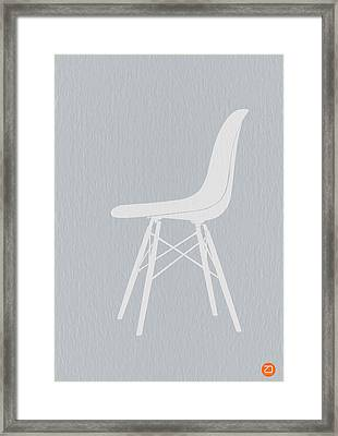 Eames Fiberglass Chair Framed Print by Naxart Studio