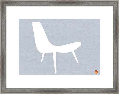 Eames White Chair Framed Print by Naxart Studio