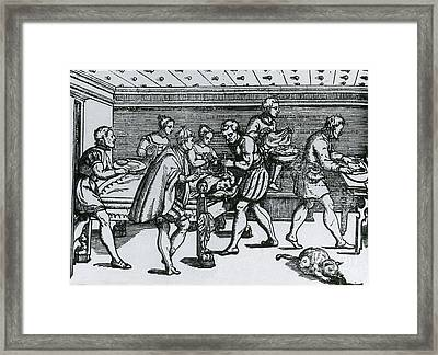 Earliest Depiction Of Craniotomy Framed Print by Science Source