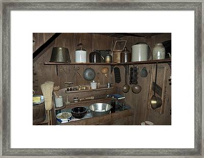 Early American Utensils Framed Print by Michael Peychich
