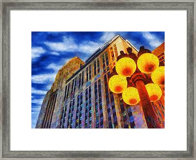 Early Evening Lights Framed Print by Jeff Kolker