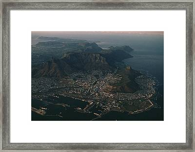 Early Morning Aerial View Of Cape Town Framed Print by James L. Stanfield