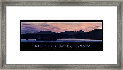 Early Morning B.c. Poster Framed Print by Neil Woodward