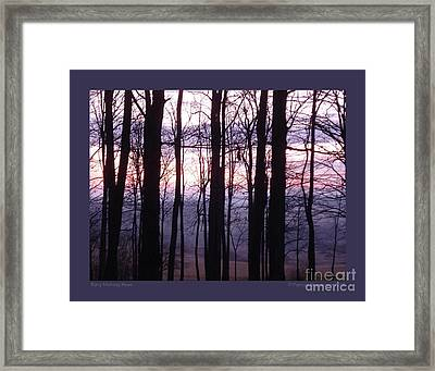 Early Morning Hues Framed Print by Patricia Overmoyer