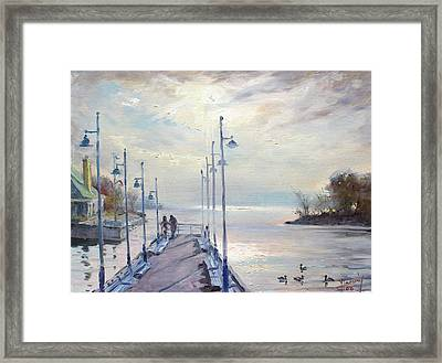 Early Morning In Lake Shore Framed Print by Ylli Haruni