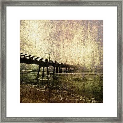 Early Morning Pier Framed Print by Skip Nall