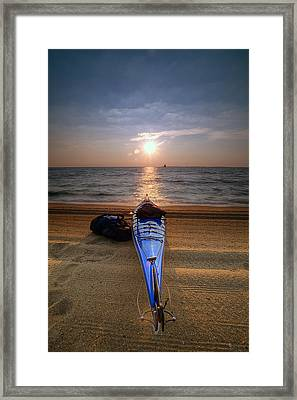 Early Morning Row Framed Print by Edward Kreis