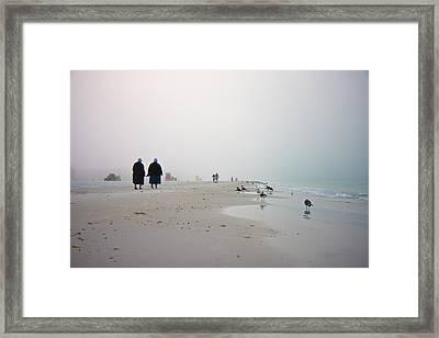 Early Morning Walk Framed Print by Betsy Knapp