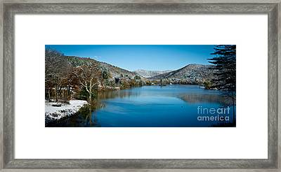 Early Snow In Vermont Framed Print by Edward Fielding