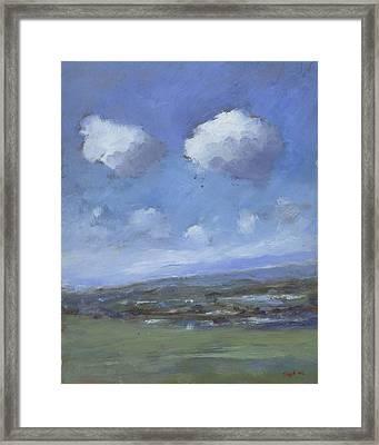 Early Summer Near Brading Down Framed Print by Alan Daysh