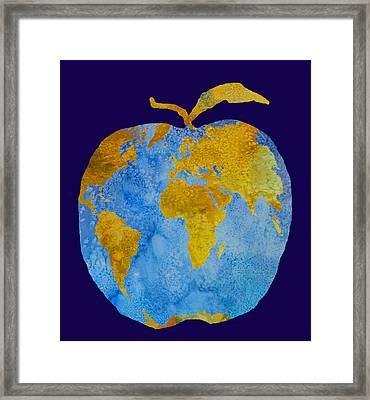 Earth Apple Framed Print by Jenny Armitage