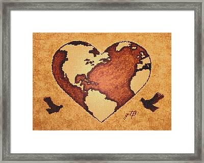Earth Day Gaia Celebration Digital Art Framed Print by Georgeta  Blanaru