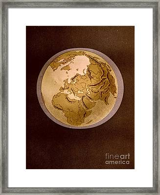 Earth From Space 1872 Framed Print by Padre Art
