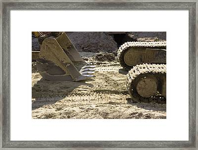 Earth Moving Equipment. An Excavator Framed Print by Maksym Zaleskyy