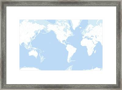 Earth's Oceans, Rivers And Lakes Framed Print by Gary Hincks