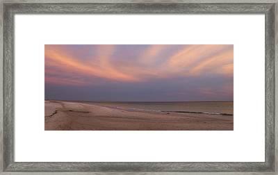 East - After The Sunset Framed Print by Sandy Keeton