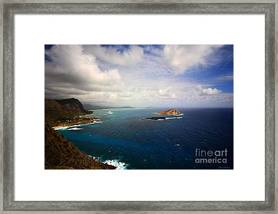 East Oahu Coastline Framed Print by Cheryl Young
