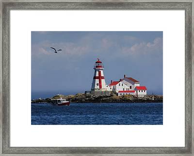 East Quoddy Head Lighthouse Framed Print by Lori Deiter