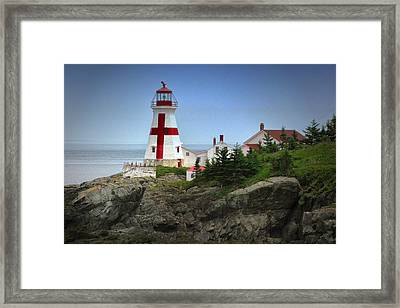 East Quoddy Lighthouse Framed Print by Robert Wicker