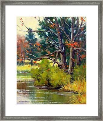 East Texas Autumn Framed Print by Vickie Fears
