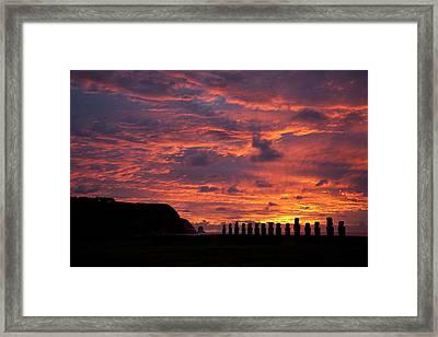 Easter Island Framed Print by Easter Island