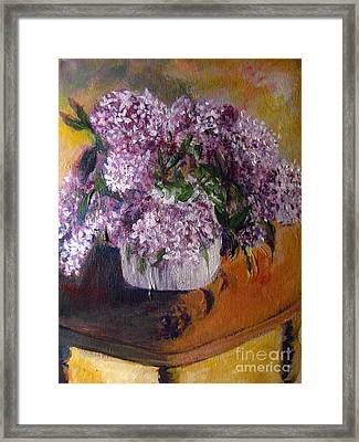 Easter Lilacs Framed Print by Tina Swindell