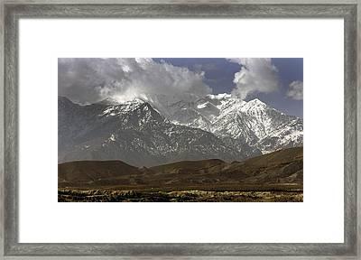 Eastern Afghanistans White Mountains Framed Print by Everett